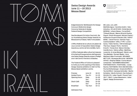 SWISS FEDERAL DESIGN AWARD 2013